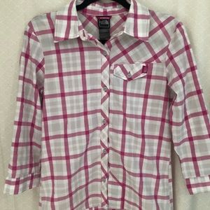 The North Face- plaid button down